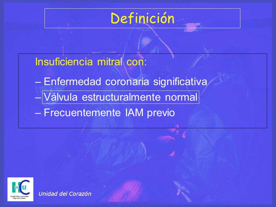 Definición Insuficiencia mitral con: