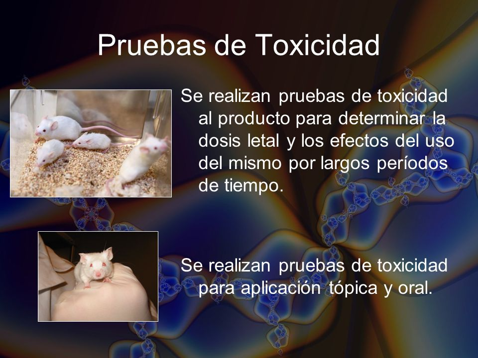 Pruebas de Toxicidad
