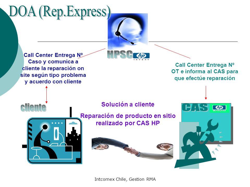 Reparación de producto en sitio realizado por CAS HP