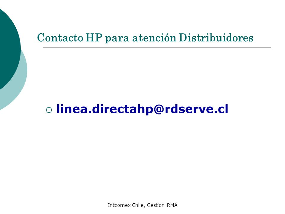 Contacto HP para atención Distribuidores