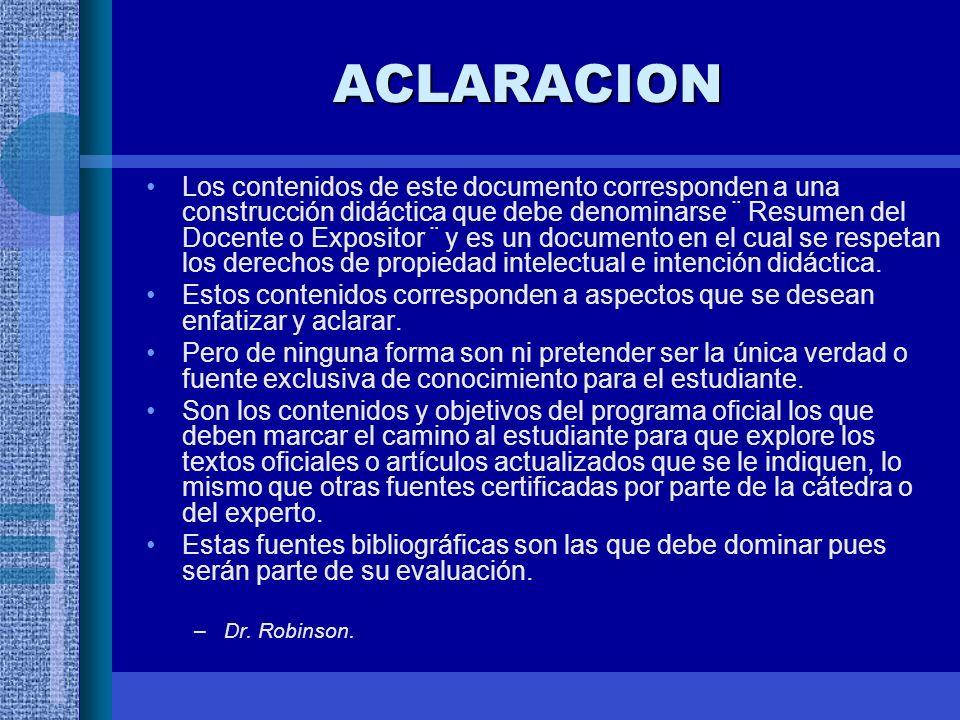 ACLARACION