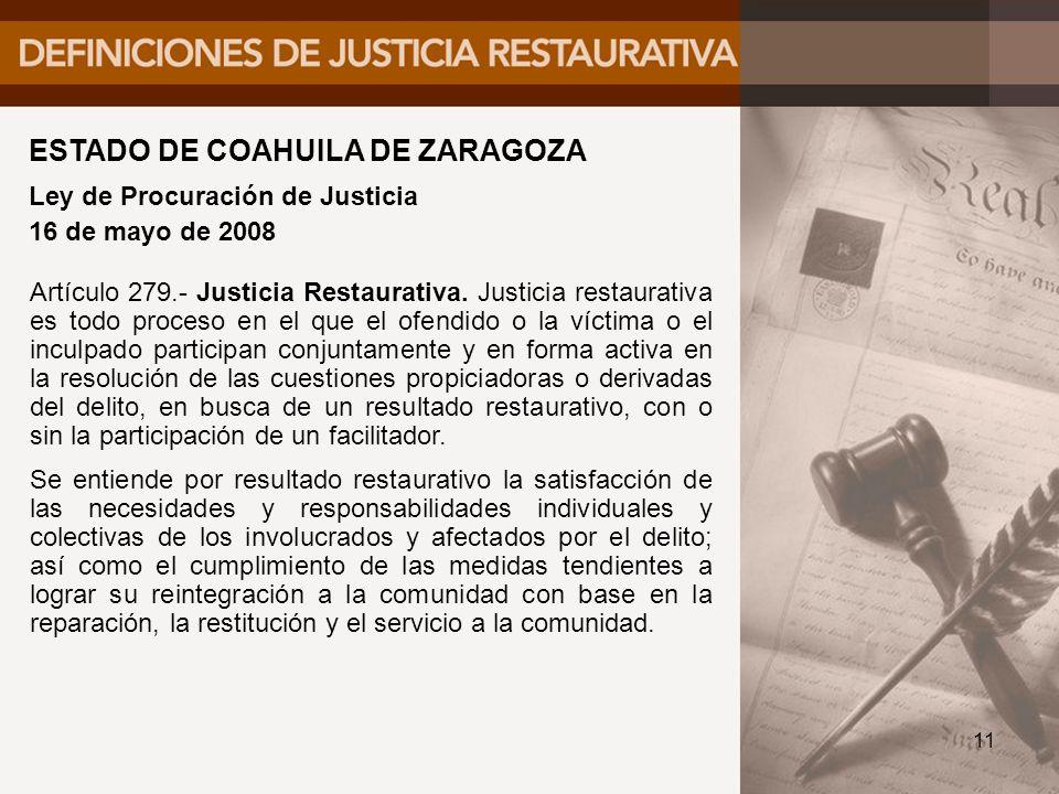 ESTADO DE COAHUILA DE ZARAGOZA