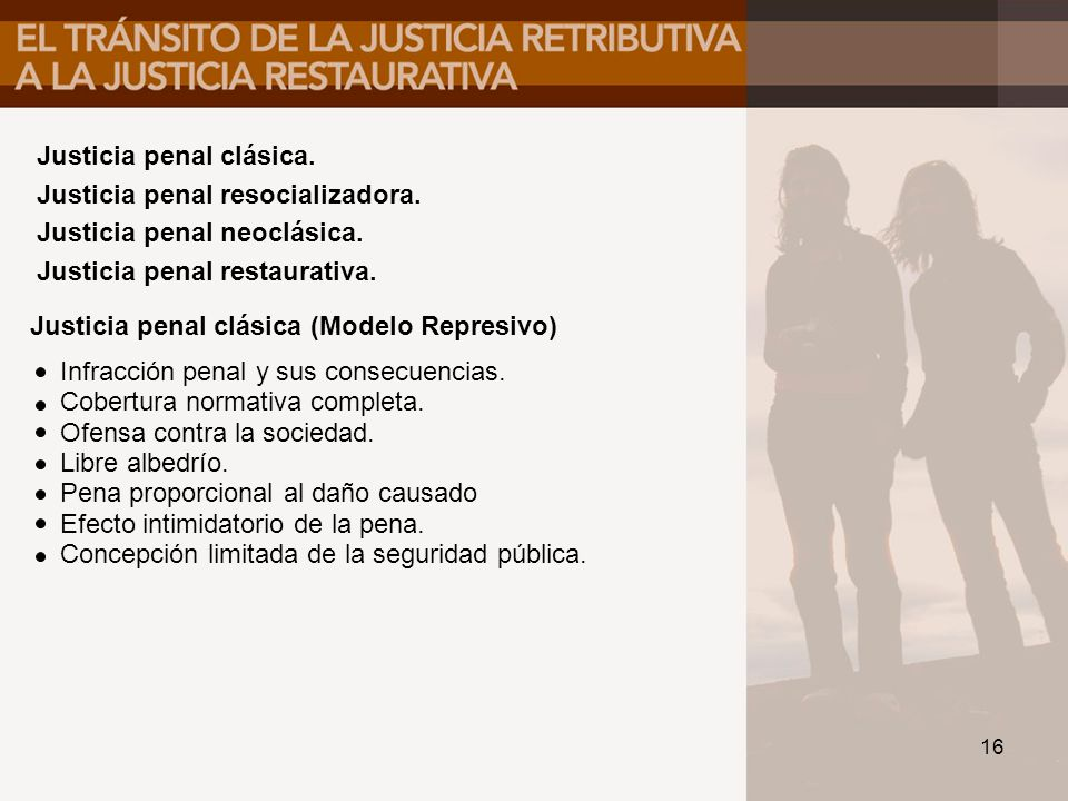 Justicia penal clásica.