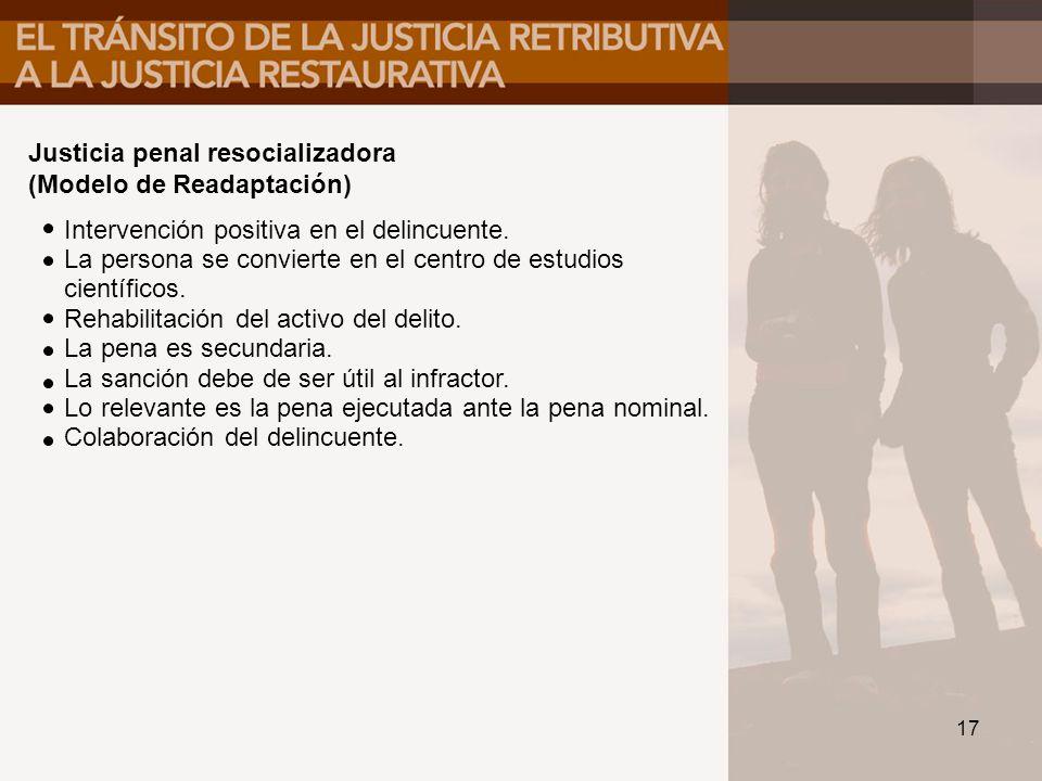 Justicia penal resocializadora
