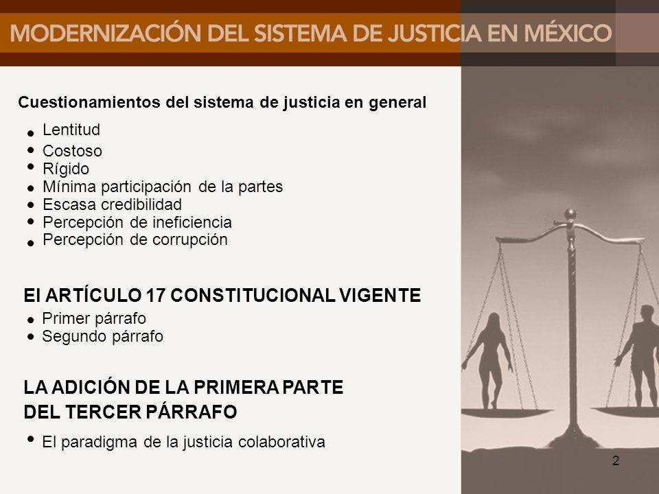 El ARTÍCULO 17 CONSTITUCIONAL VIGENTE