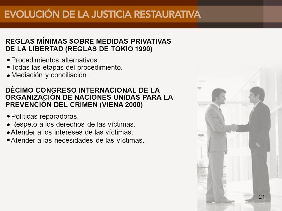 REGLAS MÍNIMAS SOBRE MEDIDAS PRIVATIVAS DE LA LIBERTAD (REGLAS DE TOKIO 1990)