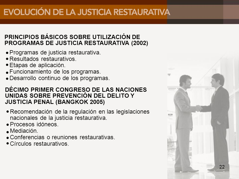 PRINCIPIOS BÁSICOS SOBRE UTILIZACIÓN DE PROGRAMAS DE JUSTICIA RESTAURATIVA (2002)