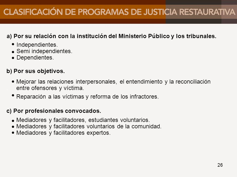 Por su relación con la institución del Ministerio Público y los tribunales.