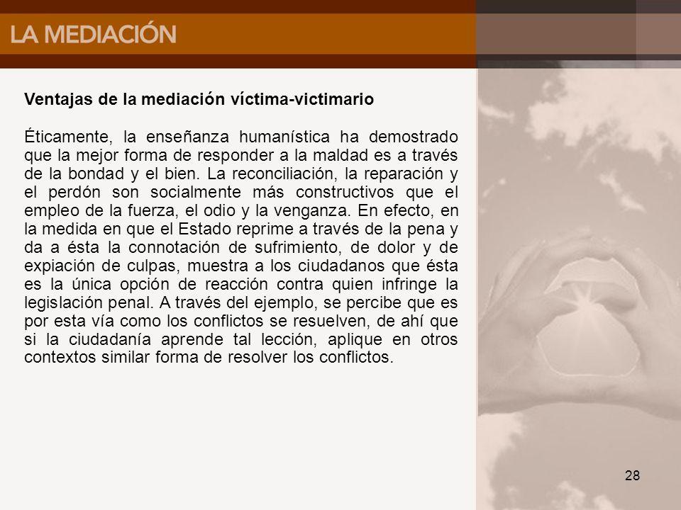 Ventajas de la mediación víctima-victimario