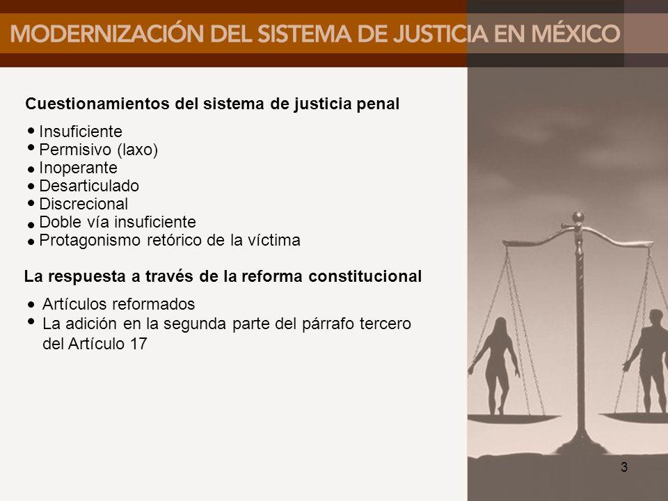 Cuestionamientos del sistema de justicia penal