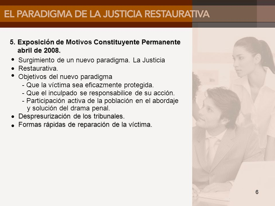 5. Exposición de Motivos Constituyente Permanente