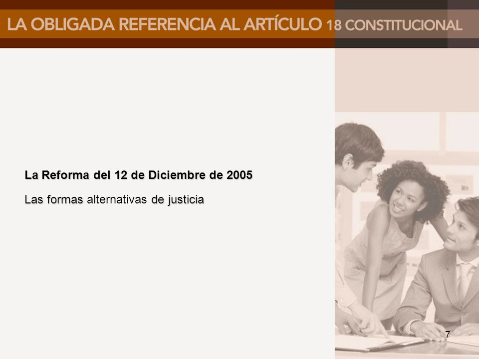 La Reforma del 12 de Diciembre de 2005