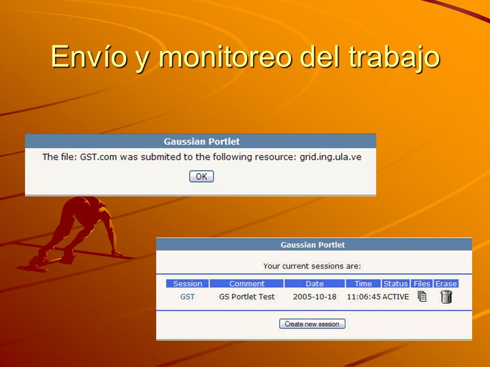 Envío y monitoreo del trabajo