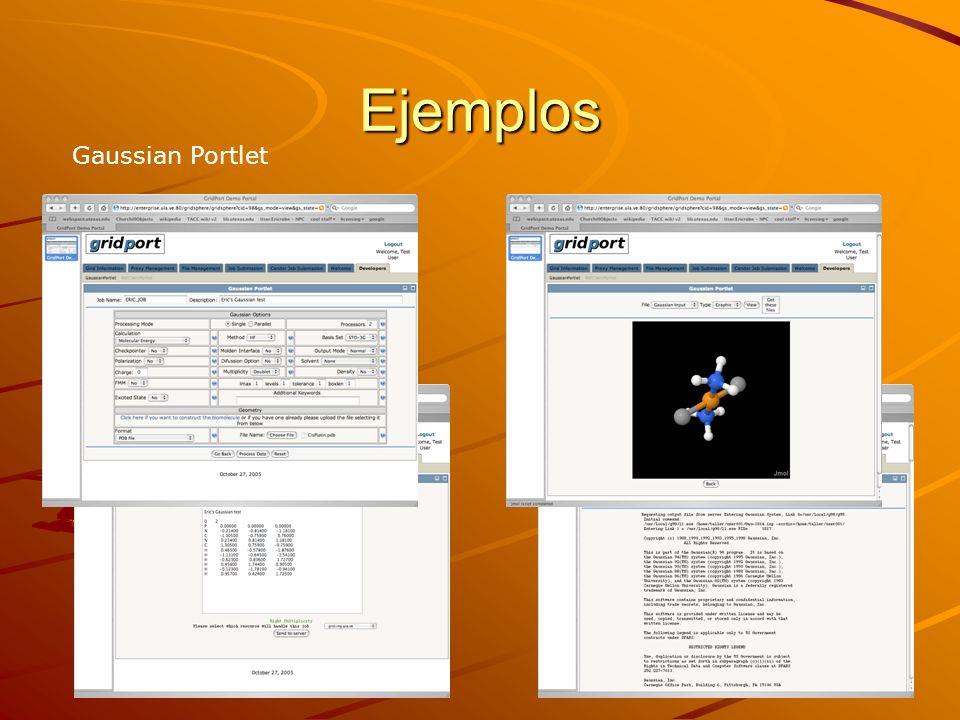 Ejemplos Gaussian Portlet