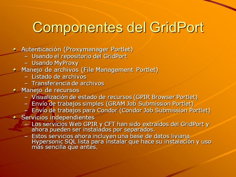 Componentes del GridPort