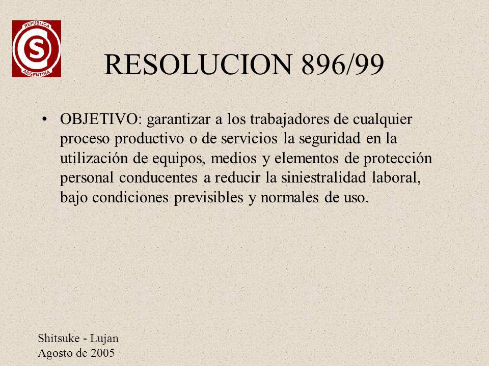 RESOLUCION 896/99