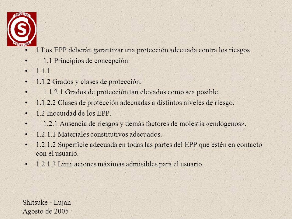 1 Los EPP deberán garantizar una protección adecuada contra los riesgos.