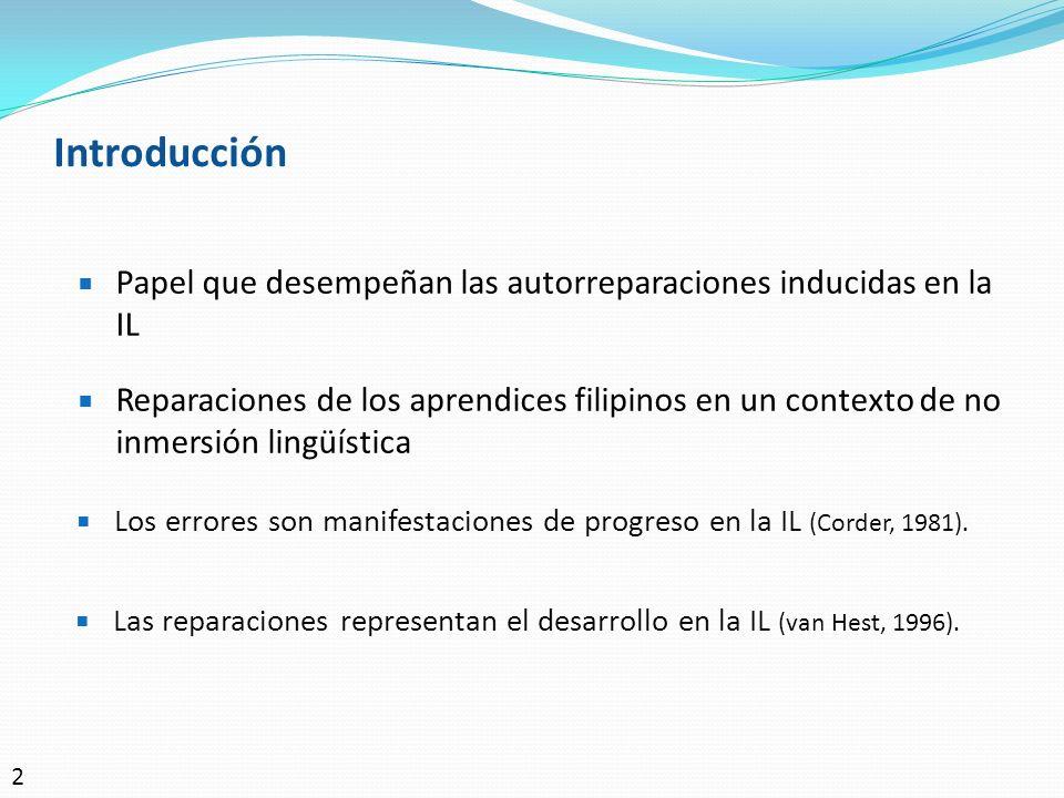 Introducción Papel que desempeñan las autorreparaciones inducidas en la IL.