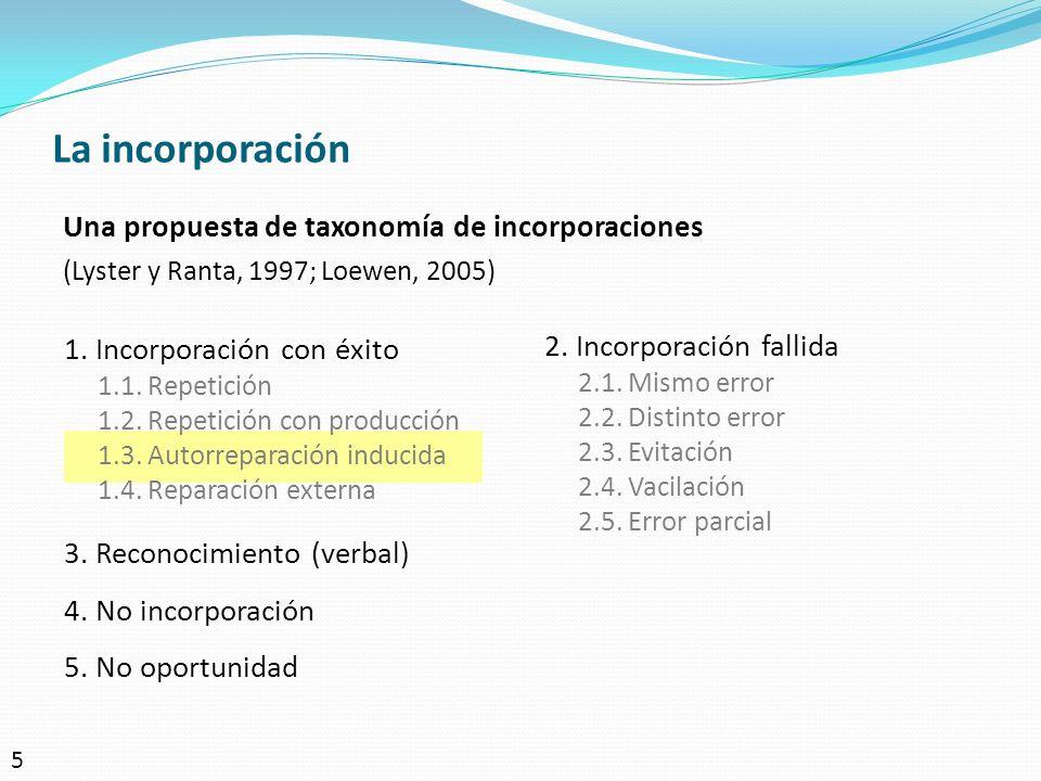 La incorporación Una propuesta de taxonomía de incorporaciones