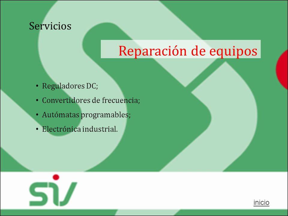 Reparación de equipos Servicios Reguladores DC;