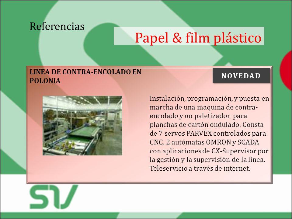 Papel & film plástico Referencias NOVEDAD