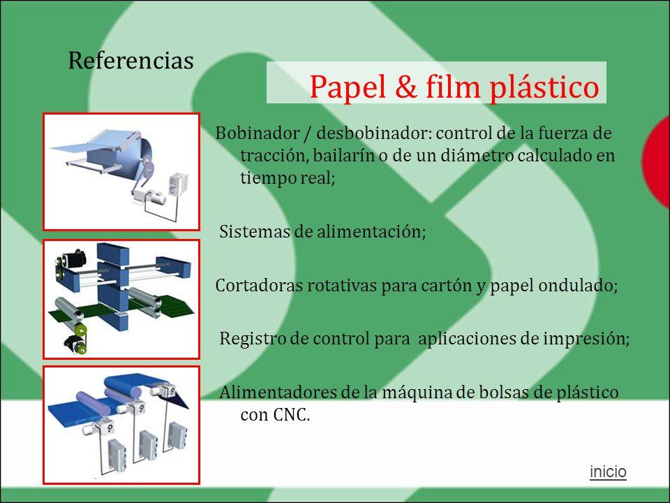 Papel & film plástico Referencias