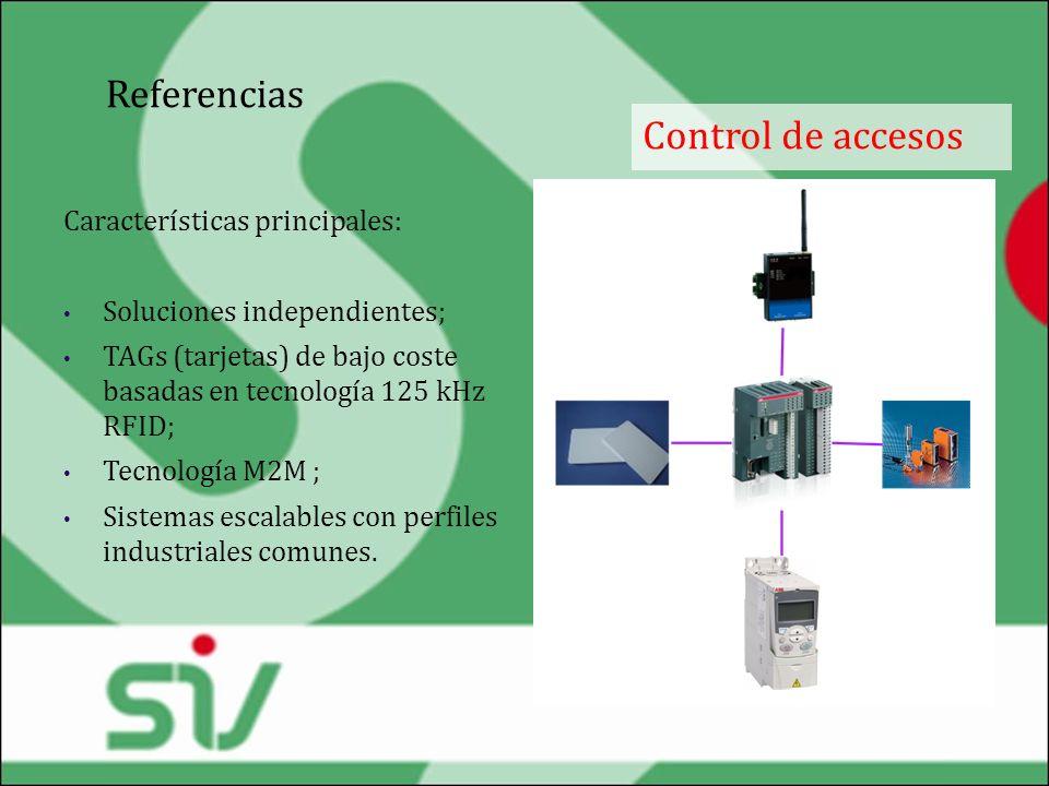 Referencias Control de accesos Características principales: