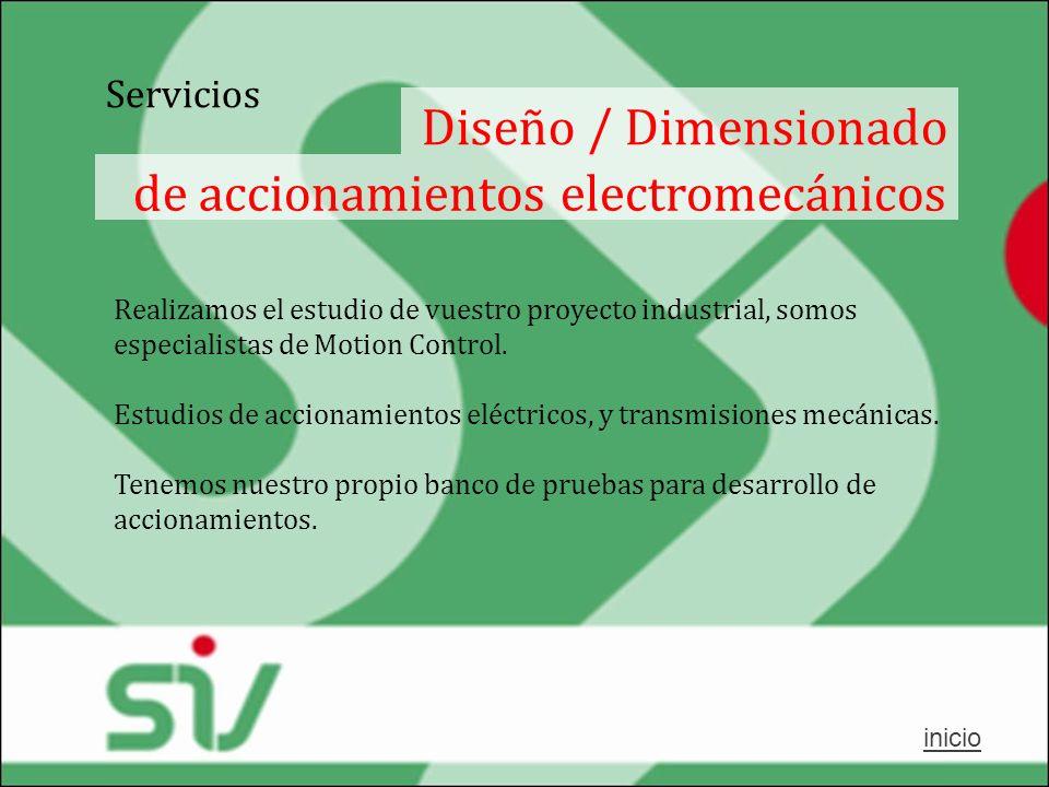 de accionamientos electromecánicos