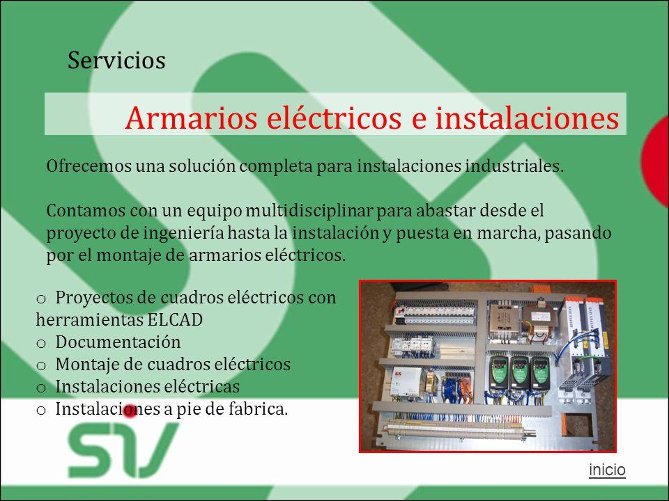 Armarios eléctricos e instalaciones