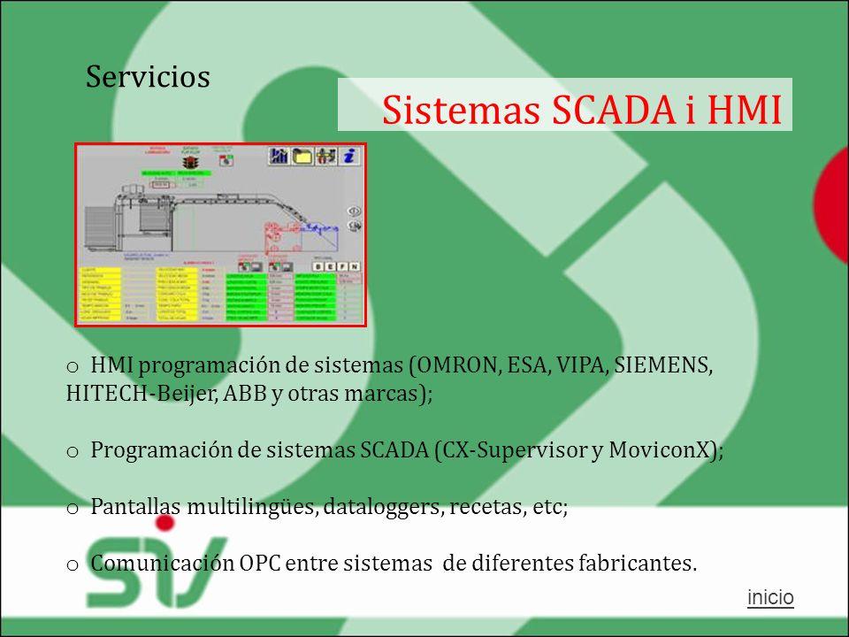 Sistemas SCADA i HMI Servicios