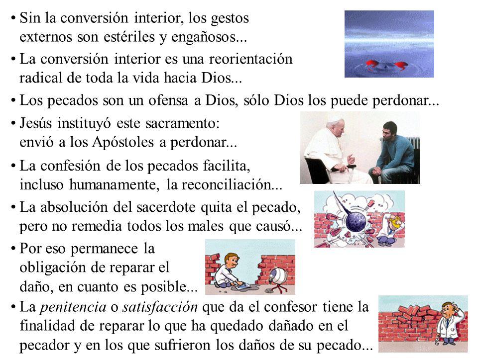 Sin la conversión interior, los gestos externos son estériles y engañosos...