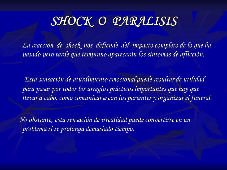 SHOCK O PARALISIS
