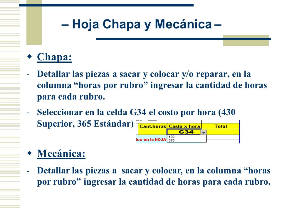 – Hoja Chapa y Mecánica –