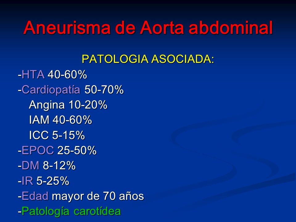 Aneurisma de Aorta abdominal