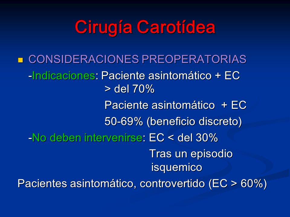 Cirugía Carotídea CONSIDERACIONES PREOPERATORIAS