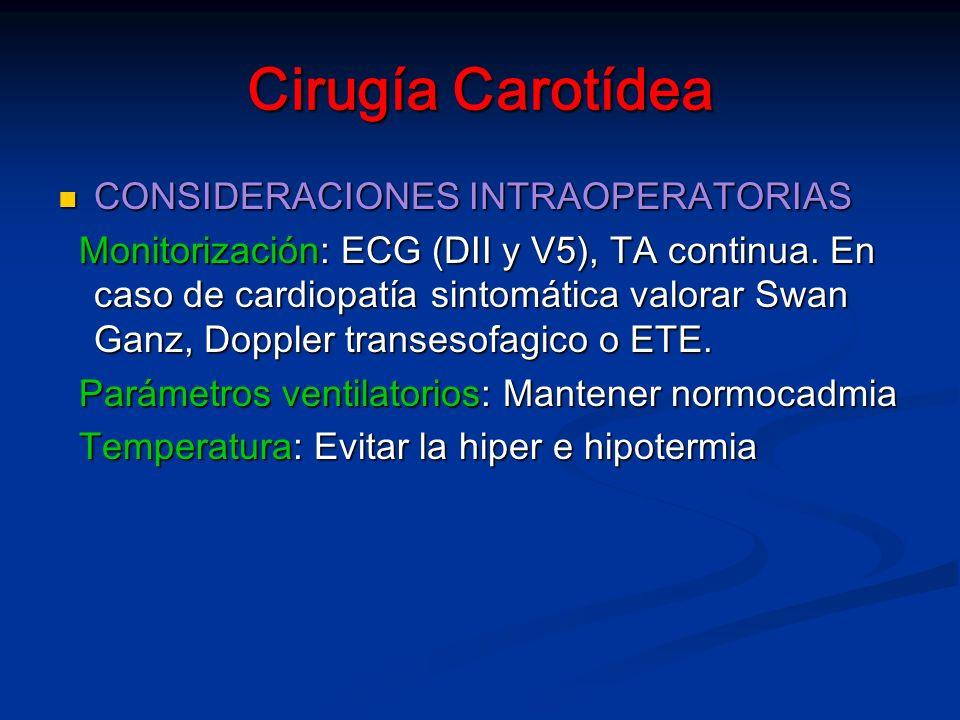 Cirugía Carotídea CONSIDERACIONES INTRAOPERATORIAS