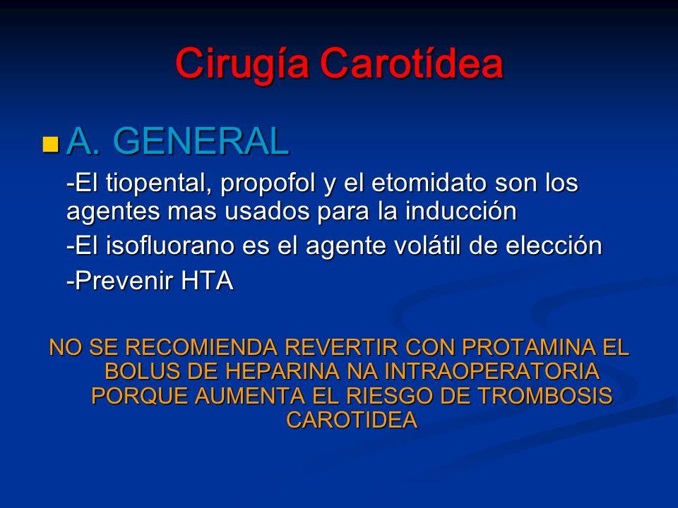 Cirugía Carotídea A. GENERAL