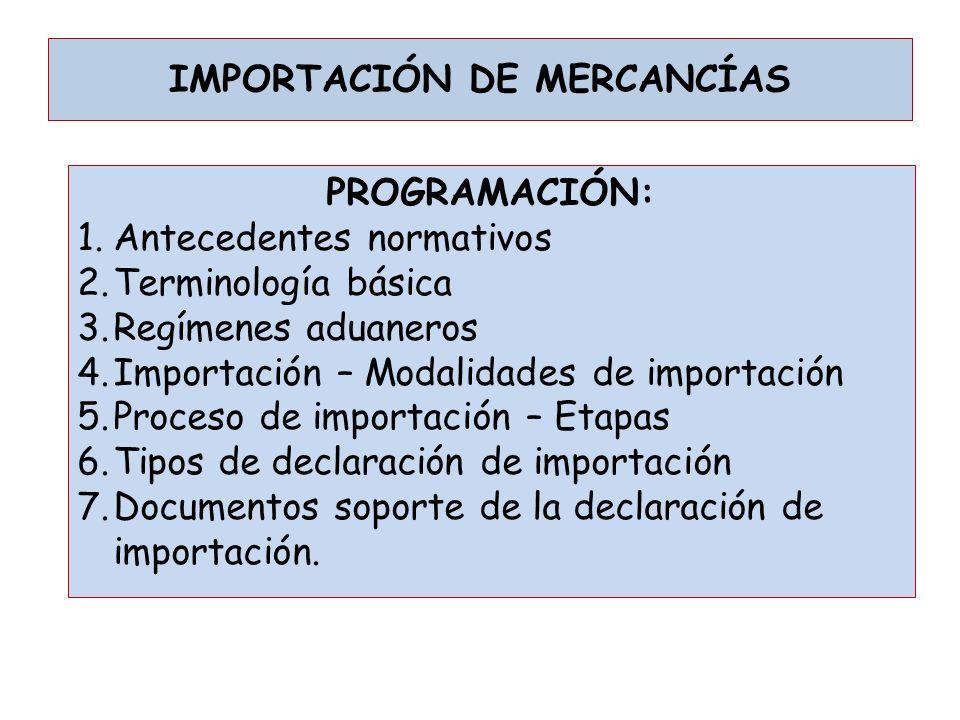 IMPORTACIÓN DE MERCANCÍAS