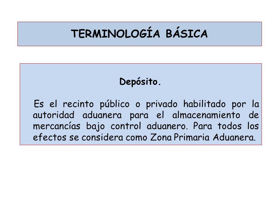 TERMINOLOGÍA BÁSICA Depósito.