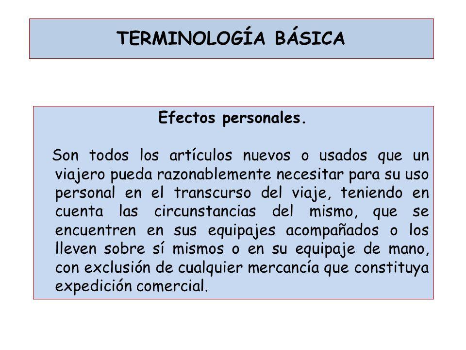 TERMINOLOGÍA BÁSICA Efectos personales.