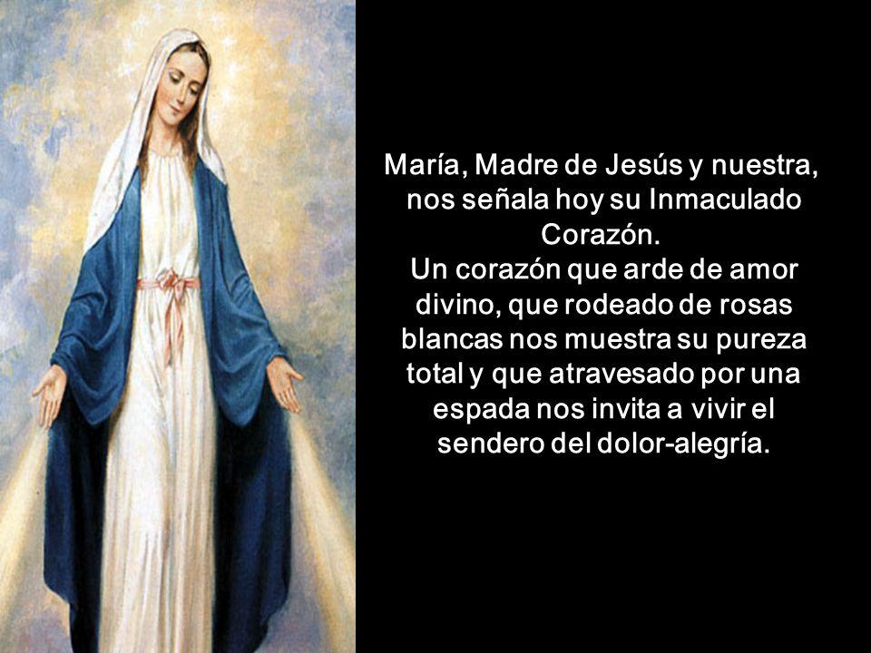 María, Madre de Jesús y nuestra, nos señala hoy su Inmaculado Corazón.