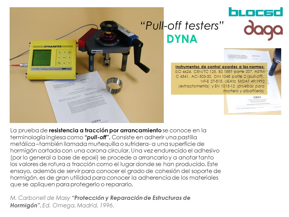Pull-off testers DYNA