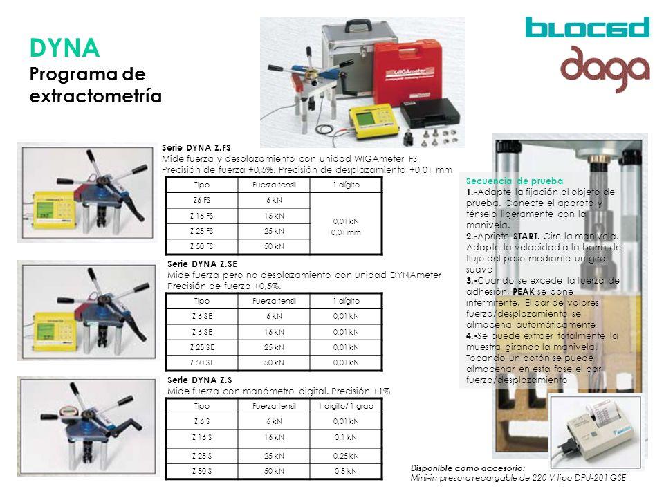 DYNA Programa de extractometría Serie DYNA Z.FS