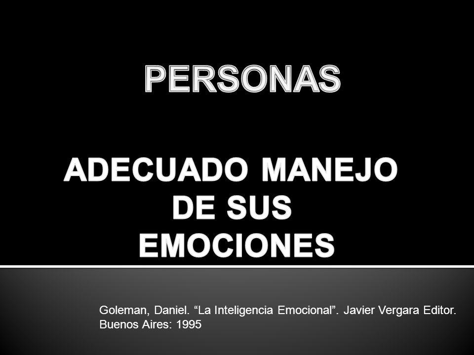 PERSONAS ADECUADO MANEJO DE SUS EMOCIONES