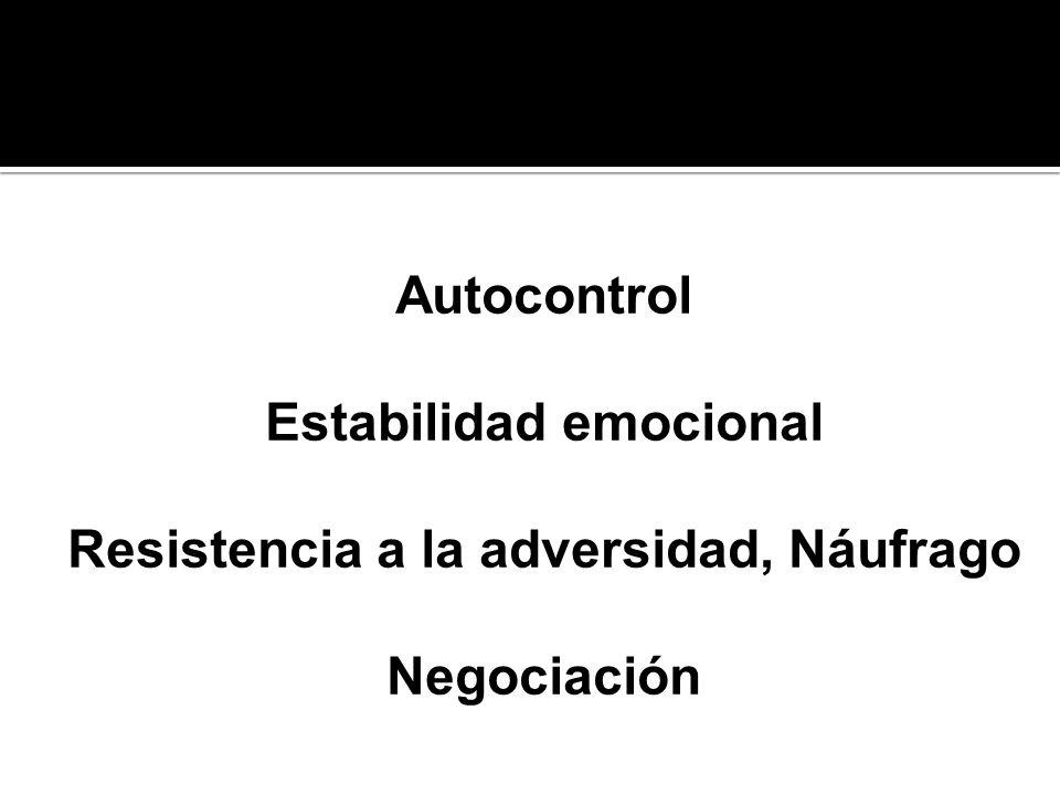 Estabilidad emocional Resistencia a la adversidad, Náufrago