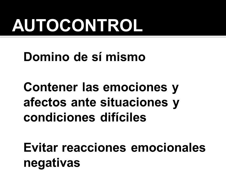 AUTOCONTROL Domino de sí mismo
