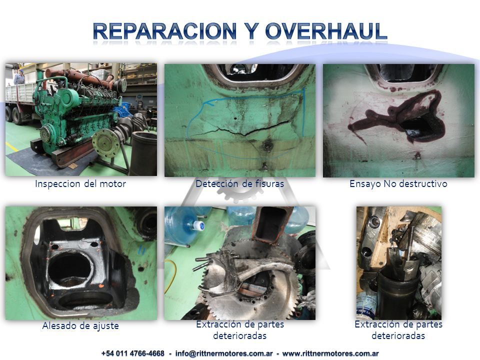 REPARACION Y OVERHAUL Inspeccion del motor Detección de fisuras