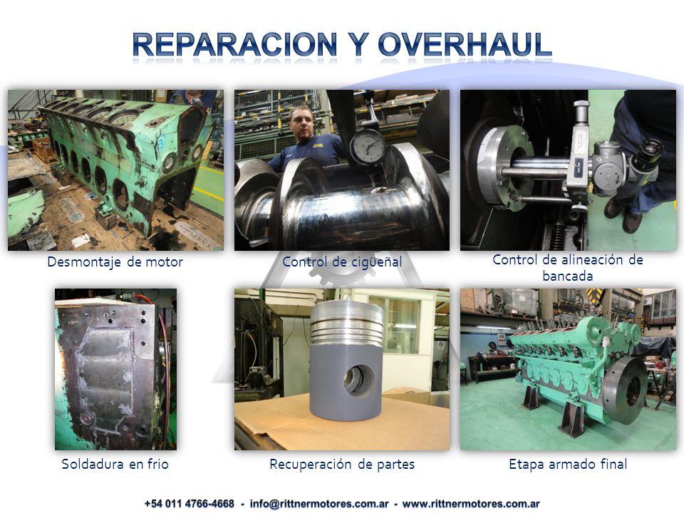 REPARACION Y OVERHAUL Desmontaje de motor Control de cigüeñal