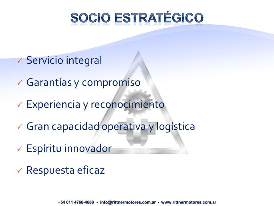 Socio estratégico Servicio integral Garantías y compromiso