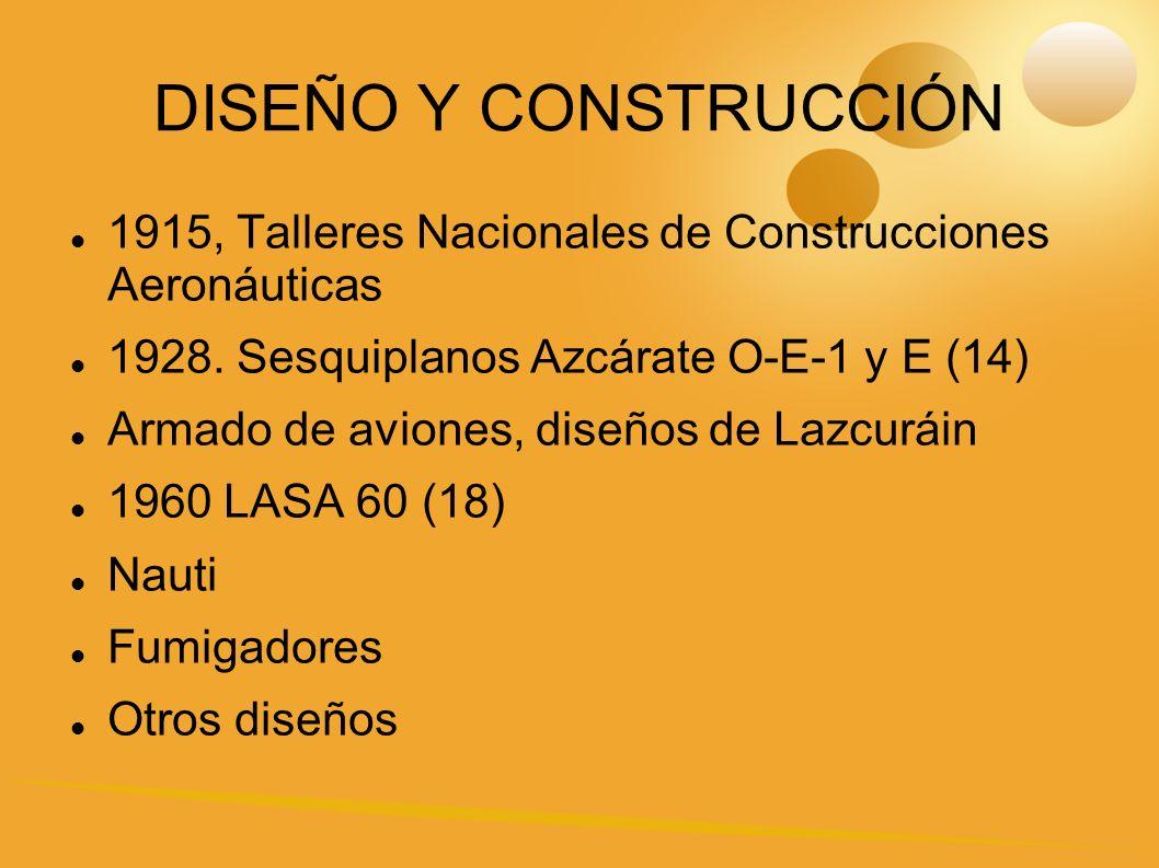 DISEÑO Y CONSTRUCCIÓN 1915, Talleres Nacionales de Construcciones Aeronáuticas. 1928. Sesquiplanos Azcárate O-E-1 y E (14)